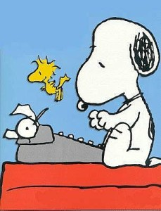 Snoopy, author of many short bad books
