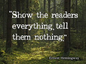 How to start a novel: show the readers the world.