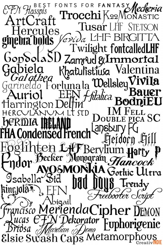 Fonts great for fantasy!