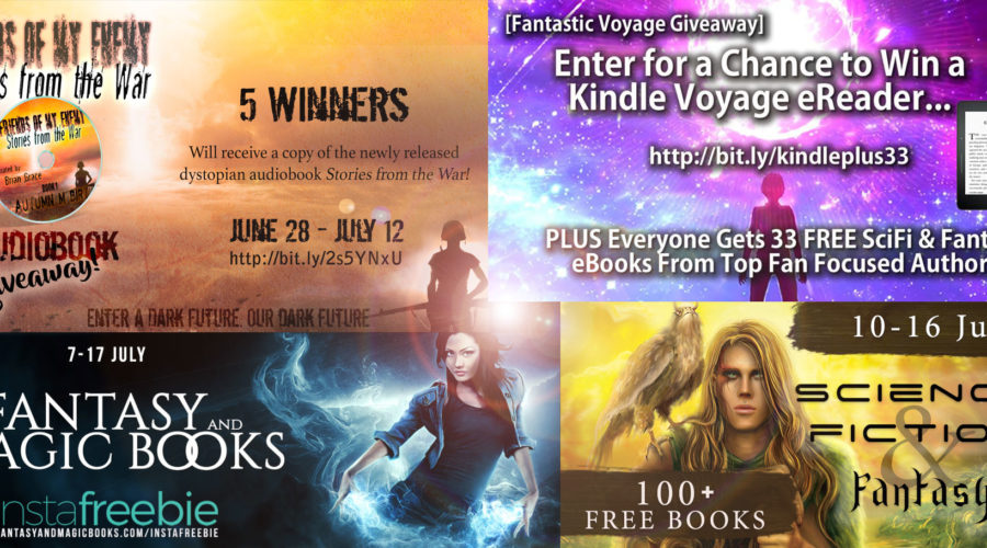 July Fantasy Giveaway Roundup!